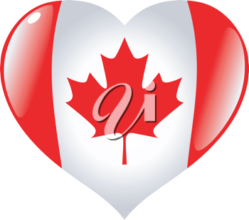 Image of heart with flag of Canada