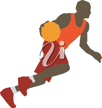 Kind of sport series of illustration. Basketball