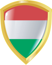 Coat of arms in national colours of Hungary