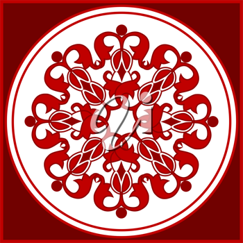 Royalty Free Clipart Image of a Decorative Rosette