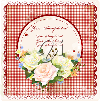 vintage design with roses