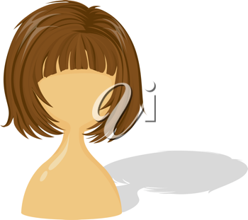 Royalty Free Clipart Image of a Wig