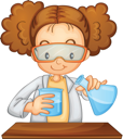 Illustration of a young scientist