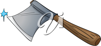 Illustration of an isolated axe