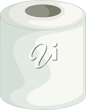 illustration of toilet paper on white