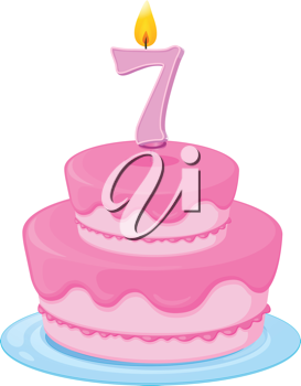 illustration of a birthday cake on a white background