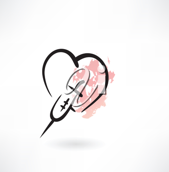 treatment of heart grunge icon