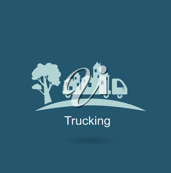 trucking houses icon