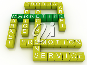 Royalty Free Clipart Image of a Marketing Word Design