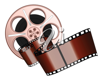 Royalty Free Clipart Image of a Film Roll