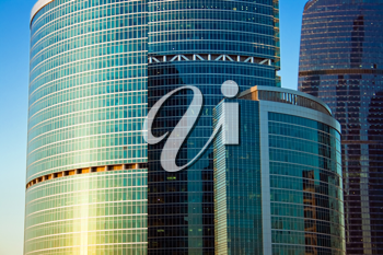 Royalty Free Photo of Skyscrapers Construction in the International Business Centre in Moscow