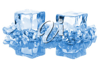 Royalty Free Photo of Pieces of Ice Cubes