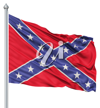Royalty Free Clipart Image of a Confederate Flag