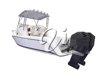Royalty Free Clipart Image of a Boat