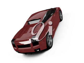 Royalty Free Clipart Image of a Car