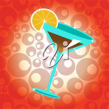 Royalty Free Clipart Image of a Cocktail