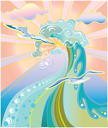 Royalty Free Clipart Image of an Ocean Wave