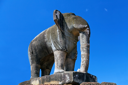 Royalty Free Photo of an Elephant Statue in East Mebon Temple, Cambodia