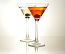 cocktails with olive and cherry
