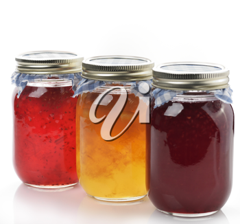 Homemade Marmalade And Jam  In The Glass Jars
