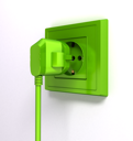 Royalty Free Clipart Image of a Plug in a Socket
