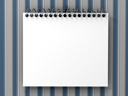 Royalty Free Clipart Image of a Blank Notepad
