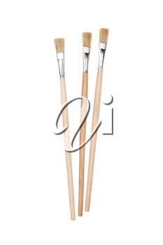 Paint brushes isolated on white background