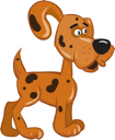 Royalty Free Clipart Image of a Spotted Dog