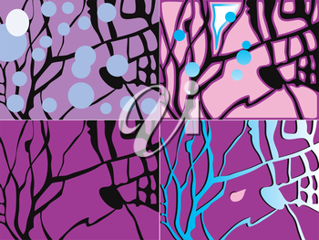 Four of abstract background