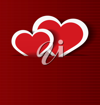 Royalty Free Clipart Image of Paper Hearts