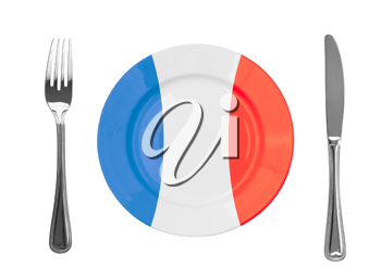 Royalty Free Photo of a French Plate and Utensils