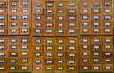 Royalty Free Photo of a Vintage Card Cabinet