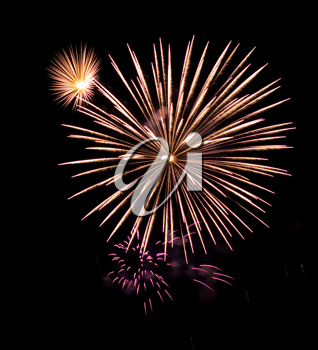 Royalty Free Photo of a Fireworks Display