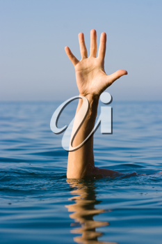 Royalty Free Photo of a Man Drowning
