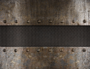 Royalty Free Photo of a Grunge Metal Background