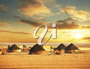 Royalty Free Photo of African Huts