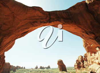 Royalty Free Photo of an Arch in Arches National Park in Utah