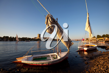 Royalty Free Photo of Boats on the Nile