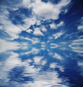 Royalty Free Photo of Clouds Over Water