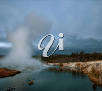 Royalty Free Photo of a Geyser in Yellowstone National Park