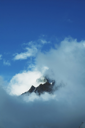 Royalty Free Photo of the Himalayan Mountains in the Clouds
