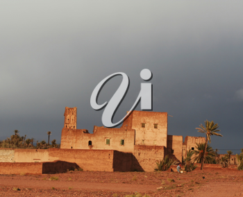 Royalty Free Photo of a Kasbah in Morocco