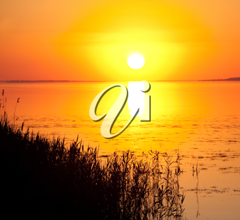 Royalty Free Photo of a Sunset on Dnepr River