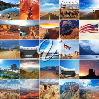 American theme collage