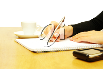 Royalty Free Photo of a Woman Writing