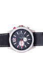 Hand watch, macro, isolated,leather wrist let with clipping path