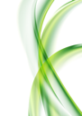 Royalty Free Clipart Image of a Green Wave Background