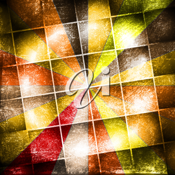 Royalty Free Clipart Image of a Grungy Design