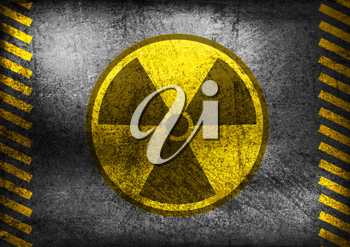 Royalty Free Clipart Image of a Nuclear Radiation Symbol