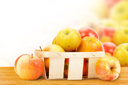 Royalty Free Photo of a Basket of Apples